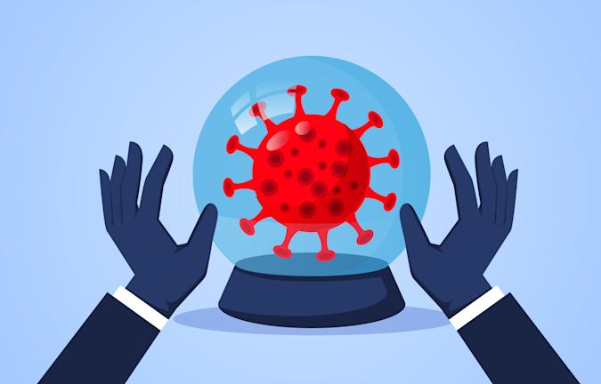 Crystal ball and new coronavirus, wish and bless the world to eliminate new coronavirus as soon as possible