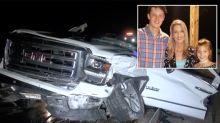 Mum dies in freak crash after wheel smashes through window