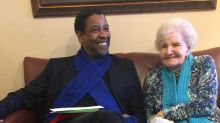 Denzel Washington makes librarian's day by meeting her on 99th birthday