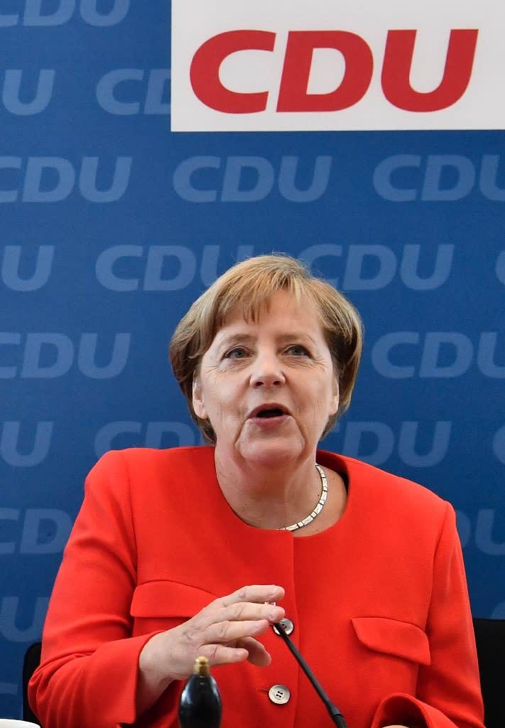 German Chancellor and leader of the CDU (Christian Democratic Union) Angela Merkel made a u-turn on gay marriage (AFP Photo/John MACDOUGALL)