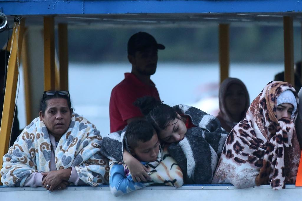 """One woman who survived the sinking of the Almirante said the two lower decks were """"too crowded"""" (AFP Photo/JOAQUIN SARMIENTO)"""