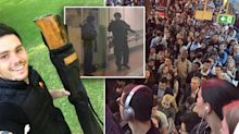 'Everyone was freaking out': Teacher carrying didgeridoo in bag swarmed on by police