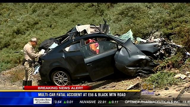 11AM UPDATE: Multi-car fatal accident at SR-56 & Black Mtn Road
