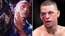 UFC brawler's bizarre threat for Dwayne 'The Rock' Johnson