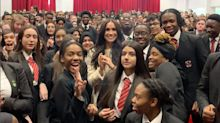 Meghan Markle Urges Male Students to Make Sure Women 'Are Feeling Valued and Safe' in Speech