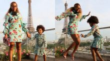 Beyoncé und Blue Ivy im Gucci-Partnerlook in Paris