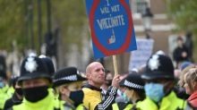 Thousands march in London in fourth anti-lockdown protest