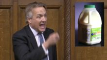Astonishing moment Tory MP announces milk protest during COVID law debate