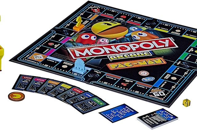 A Pac-Man edition of 'Monopoly' includes a mini arcade game