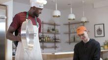 The Raptors' Serge Ibaka Surprises Jeremy Lin With Stinky Tofu, Durian