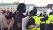 Police use pepper spray at Black Lives Matter protesters in Sweden