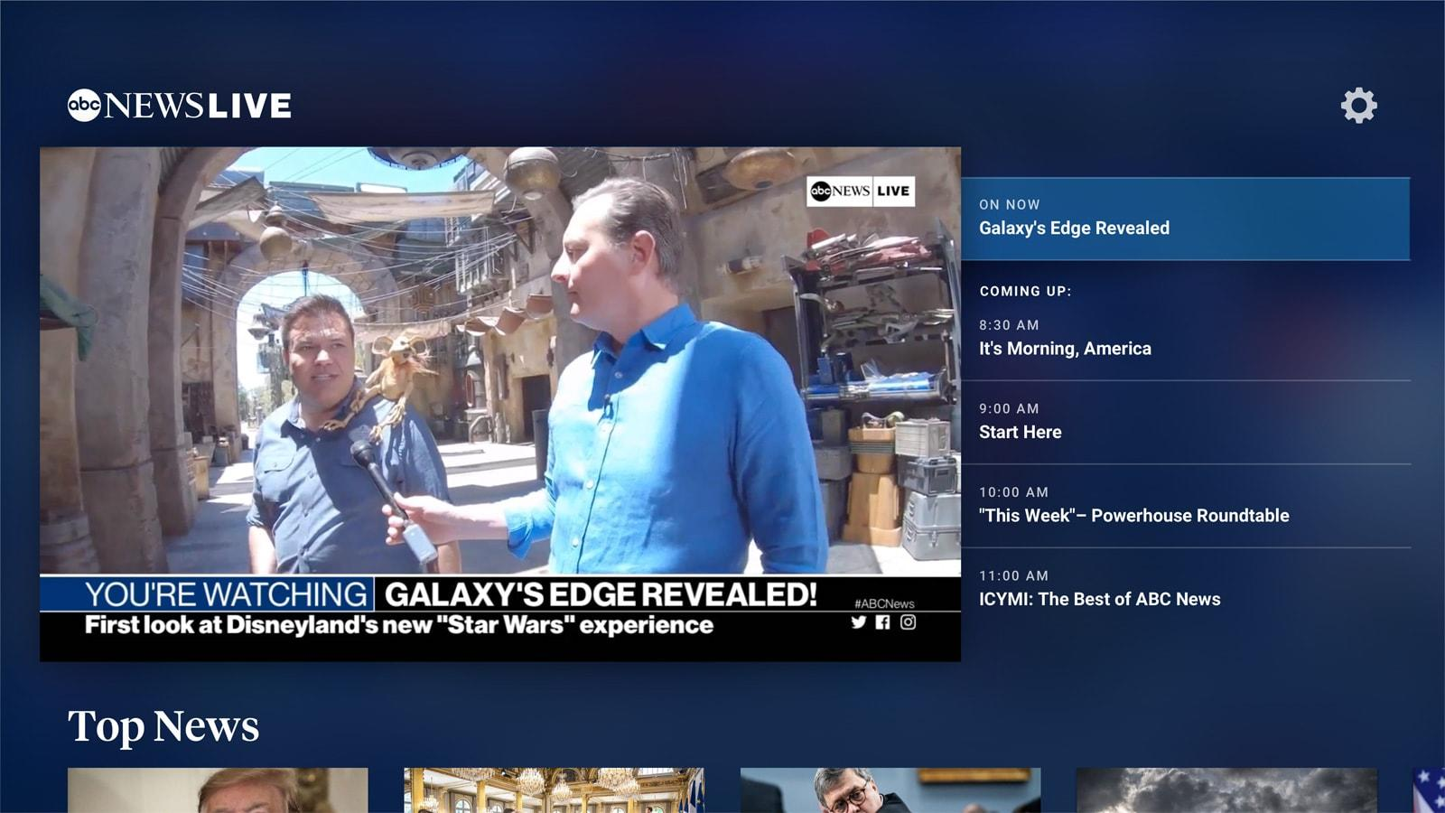 ABC News Live starts streaming on Android TV and Fire TV