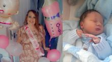 Mum is shocked to give birth to a baby boy after twice being told she was expecting a girl