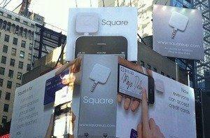 Square has billboard in Times Square, still slowly delivering card readers