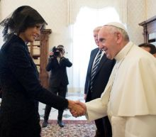 In jest, Pope Francis asks Melania Trump if she feeds pastries to the president
