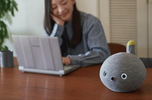 Panasonic made a moody, farting robot that looks like a cat in a sock