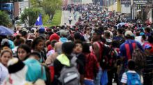 Honduran migrant group grows, heading for United States