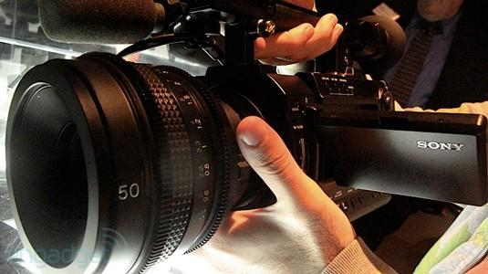 """Sony sees RED with PMW-F3 camera, we go hands-on with the $16k """"indie"""" (video)"""