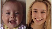 Pai filma a filha toda semana para mostrar as diferenças do tempo em 18 anos