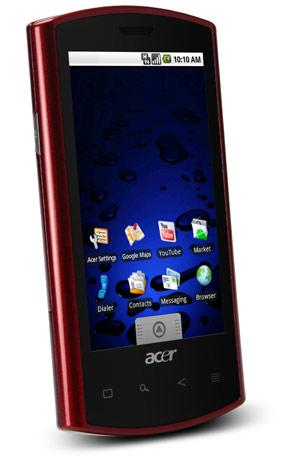 Acer Liquid e rolls with Android 2.1, underclocked 768MHz Snapdragon