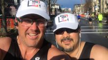 Cancer patient runs Boston marathon with his doctor: 'This disease has brought us together'