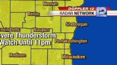 Thunderstorm Watch Issued Until 11 p.m.