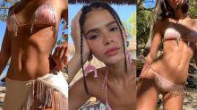 Bruna Marquezine com look brilhante R$ 15 mil na praia; também queremos!