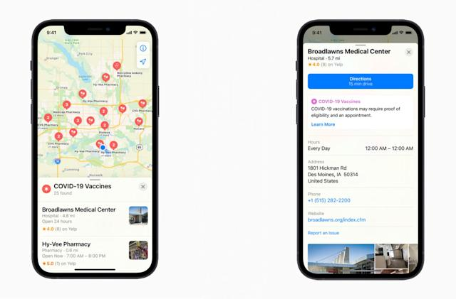 Now Apple Maps can help you find COVID-19 vaccination sites