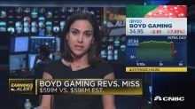 Boyd Gaming misses expectations