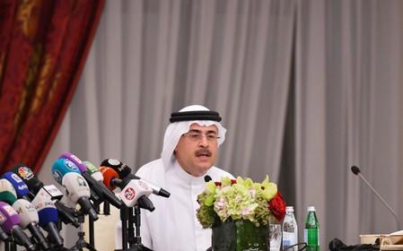 Amin H. Nasser, president and CEO of Saudi Aramco, speaks during a news conference in Jeddah