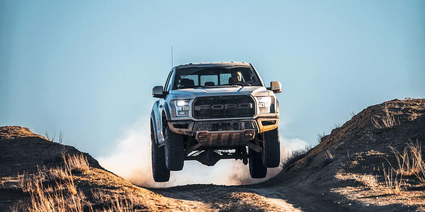 """<p>With aggressive off-road tires and a Baja-ready suspension, the Raptor doesn't exactly have the best on-road manners. It's also not as efficient at towing as a normal F-150. What it does great, though, is going off jumps and carving through terrain most other vehicles can't. <a href=""""https://www.ebay.com/itm/2017-Ford-F-150-Raptor/372729237741?hash=item56c864d0ed:g:sBMAAOSwJWddKLzW"""" rel=""""nofollow noopener"""" target=""""_blank"""" data-ylk=""""slk:Here's a used one"""" class=""""link rapid-noclick-resp"""">Here's a used one</a> you can own now for under $60,000. </p>"""