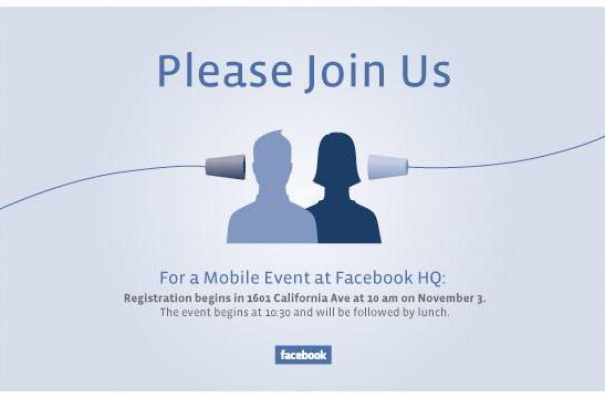 What's on Facebook's mind? Mobile event set for November 3rd