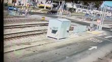 Lucky escape for driver who collided with a train