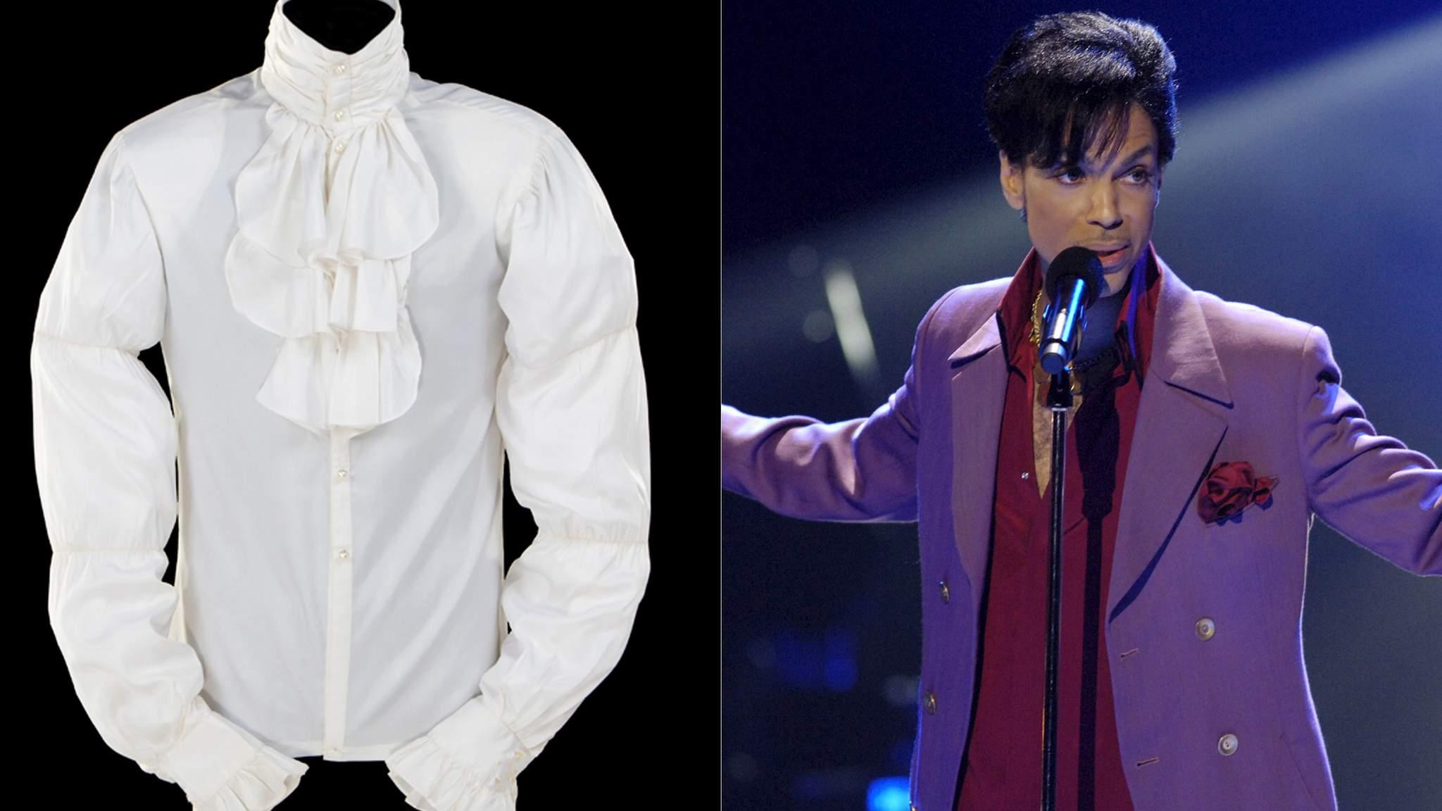 Prince 39 s purple rain shirt is auctioned for Purple rain shirt prince