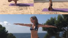 Geri 'Ginger Spice' Halliwell, 46, inspires fans with bikini-clad yoga workout