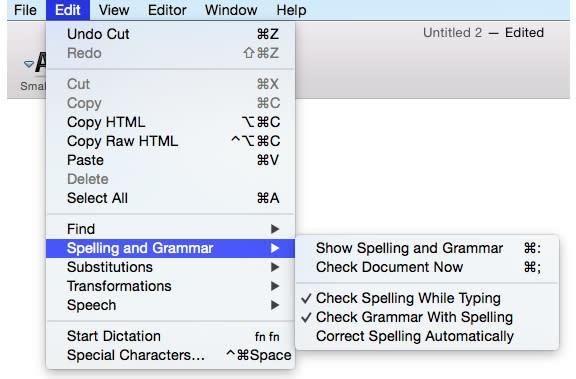 Mac 101: Use built-in OS X tools to spell and grammar check your documents