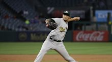 A's Sean Manaea exits after two innings with 'shoulder tightness' in LA