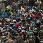 Migrant caravan trekking north to US border clashes with Guatemalan troops