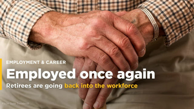 One-third of retirees end up getting full-time jobs