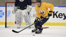 Sabres top prospect Dylan Cozens ready to learn from Eric Staal