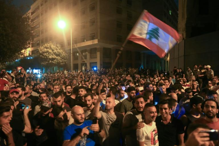 Lebanon brought to a standstill by protests over economic crisis