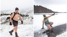 Topless snow walks and cold water swimming: What you need to know about braving winter pursuits