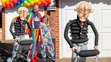 Father and daughter make impressive life-size balloon model of Captain Tom Moore
