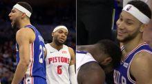 Simmons frustrates rival into bizarre headbutt