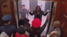 Tourists at 30 Rock were shocked to see Michelle Obama and Jimmy Fallon