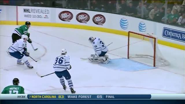 Shawn Horcoff gets a breakaway and scores