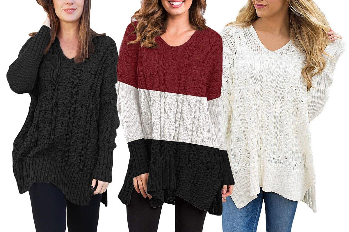 This Oversized Sweater Is Being Called The Ultimate Comfort Top By Amazon Reviewers