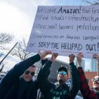 Scores protest against new Amazon HQ in Queens, NY