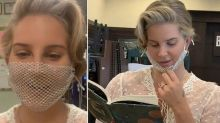Lana Del Rey criticised for wearing mesh mask to meet fans