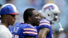 LeSean McCoy continues stretching while national anthem is going on